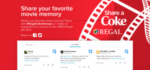 Coca-Cola And Regal Cinemas Share a Coke Sweepstakes (RegalCokeMoviememories.com)