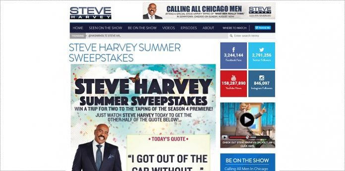 SteveHarveyTV.com/Season4Sweep - The Steve Harvey Summer Sweepstakes