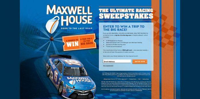 MaxwellHouse.com/RacingSweeps - The Ultimate Racing Sweepstakes