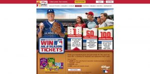 MLB and Kellogg's Catch Every Game Online Instant Win Game
