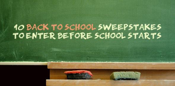 Back To School Sweepstakes