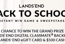 LandsEnd.com/BackToSchoolSweeps - Lands' End Back To School Sweepstakes 2016
