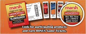 marsh monopoly game ticket