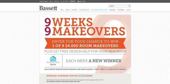 Bassett 9 Weeks, 9 Makeovers Sweepstakes