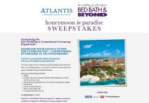 Bed Bath & Beyond Wedding & Gift Registry and Atlantis Honeymoon in Paradise Sweepstakes
