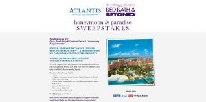 Bed Bath & Beyond Wedding & Gift Registry and Atlantis Honeymoon in Paradise Sweepstakes