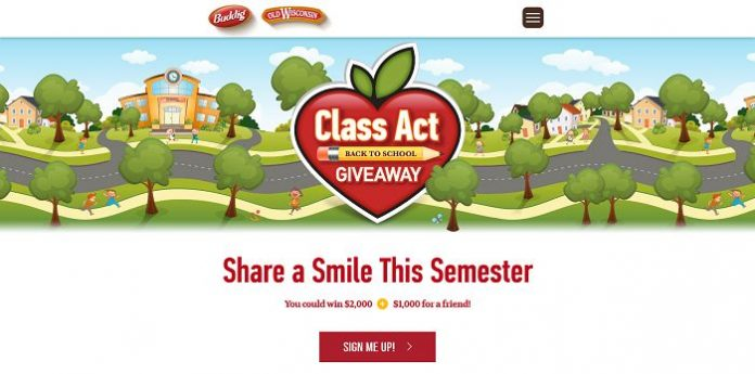 Buddig Class Act Back to School Sweepstakes