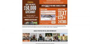 Cabela's Hunt For Bucks $50,000 Giveaway