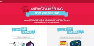 Office Depot & Office Max #NewGearFeeling Back to School Sweepstakes