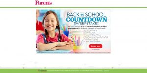 Parents.com Back-to-School Countdown Sweepstakes