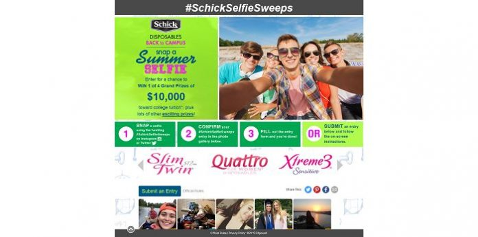 Schick Disposables Back To Campus, Snap A Summer Selfie Sweepstakes