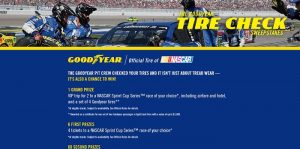 Goodyear Tire Check Sweepstakes