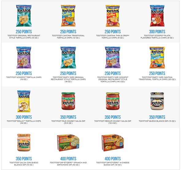 participating tostitos products