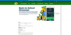 Crayola & Shoparoo Back to School Sweepstakes