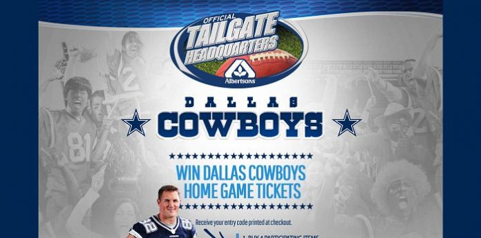 Albertsons 2015 Dallas Cowboys Ticket Giveaways