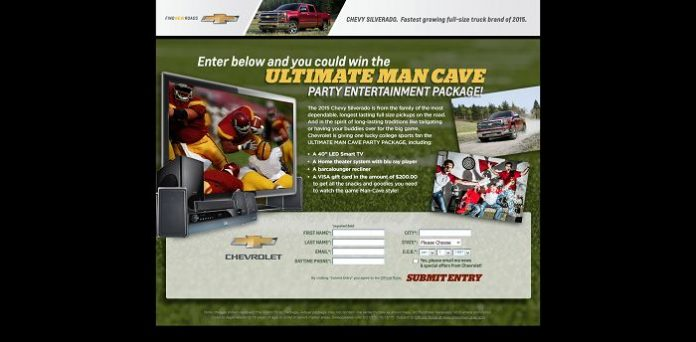 ChevyManCave.com - Chevy Man Cave Party Sweepstakes