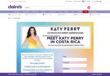 Claires.com/KatyPerry - Claire's Katy Perry Ultimate Fly-Away Sweepstakes