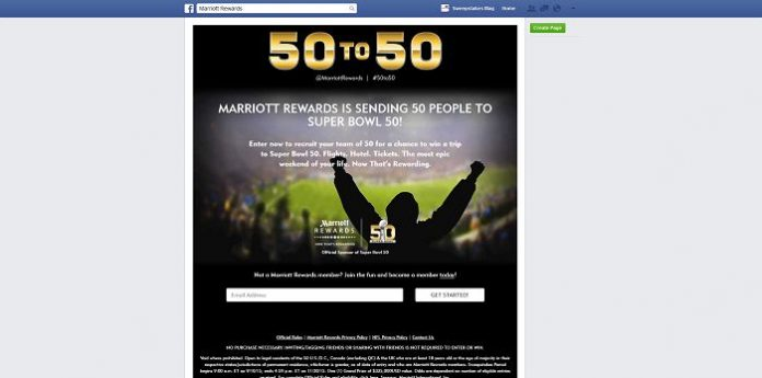 Marriott50to50.com - Marriott Rewards 50 to 50 Sweepstakes
