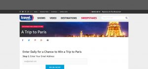 Travel Channel October 2015 Sweepstakes