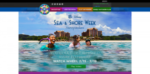 Wheel of Fortune Disney Sea and Shore Sweepstakes