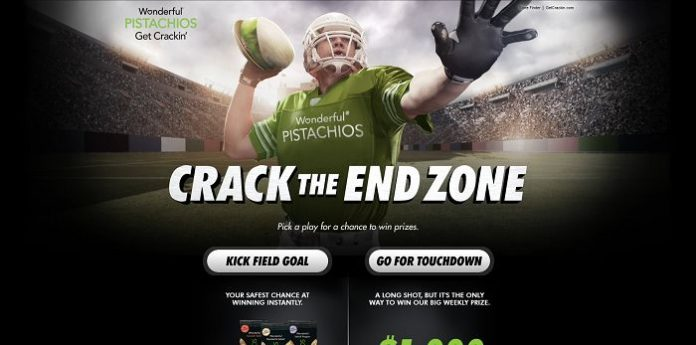 Wonderful Pistachios Crack The End Zone Sweepstakes