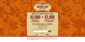 WorldMarketSweepstakes.com - World Market's Share the Joy Sweepstakes