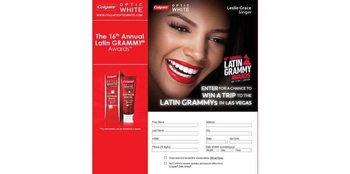 Colgate Optic White Latin Grammy Trip Sweepstakes (OpticWhiteStyle.com)