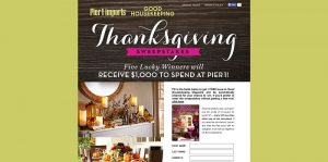 GoodHousekeeping.com/Pier1 - Pier 1 Imports and Good Housekeeping Thanksgiving Sweepstakes