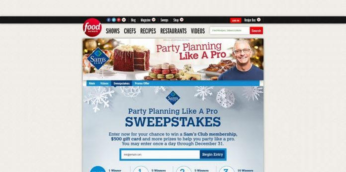 Food Network Party Planning Like A Pro Sweepstakes (FoodNetwork.com/Party)