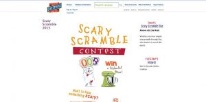 Scary Recipe Scramble Contest