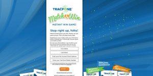 TracfoneMatchNWin.com - TracFone Match And Win Instant Win Game