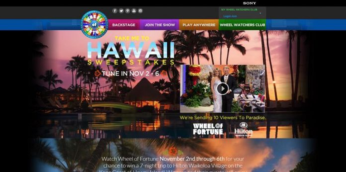 Wheel of Fortune Take Me To Hawaii Sweepstakes