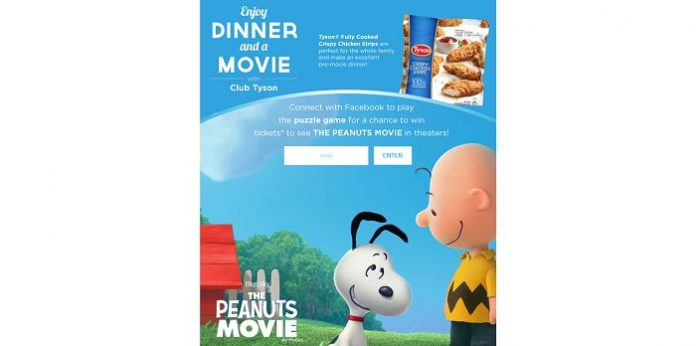 Club Tyson's The Peanuts Movie Sweepstakes