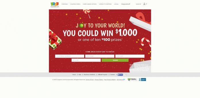 Coupons.com Holiday Shopping Sweepstakes