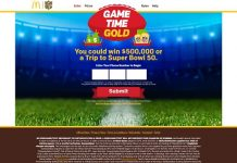 Game Time Gold At McDonald's Sweepstakes