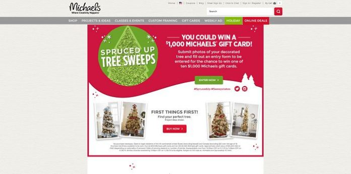 Michaels.com/SprucedUp - Michaels Spruced Up Sweepstakes