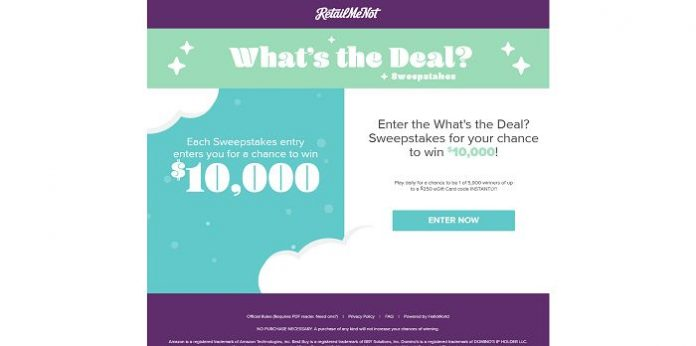 RetailMeNot What's the Deal? Sweepstakes