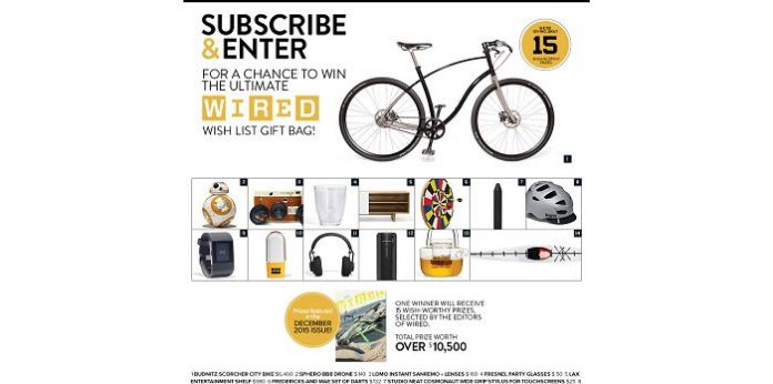 WIRED Magazine Wish List 2015 Sweepstakes
