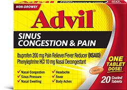 advil sinus congestion pain