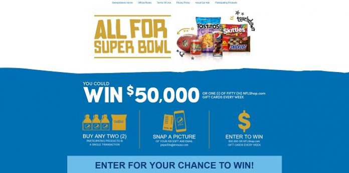 Pepsi50kSweeps.com - Albertsons And Pepsi Super Bowl $50K Sweepstakes