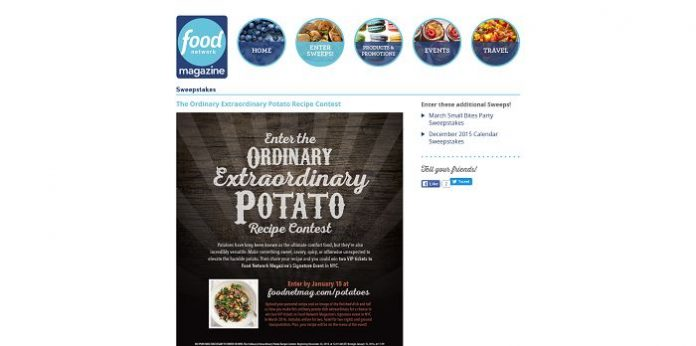 Food Network Magazine Ordinary Extraordinary Potato Recipe Contest