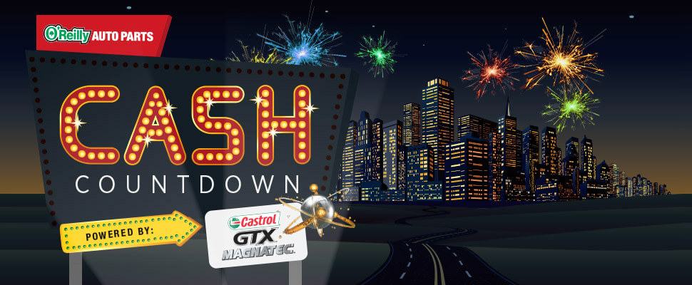 O'Reilly Cash Countdown Sweepstakes 2016