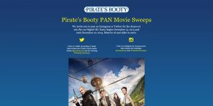 Pirate's Booty PAN Movie Sweepstakes