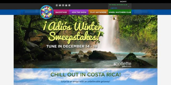 Wheel of Fortune Costa Rica Sweepstakes