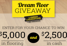 Lumber Liquidators Dream Floor Giveaway 2017 (DIYNetwork.com/DreamFloor)
