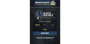 Bud Light Super Bowl Coin Toss Sweepstakes