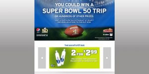 Pepsi Super Bowl 50 Sweepstakes at Chevron ExtraMile