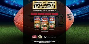 Chunky Super Bowl 50 Instant Win Game