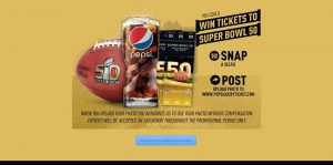 Pepsi Super Bowl 50 Ticket Hunt Sweepstakes at PepsiLuckyTicket.com