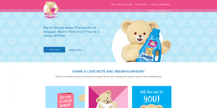 SnugglebBearYourHeart.com - Snuggle Bear Your Heart Instant Win Game